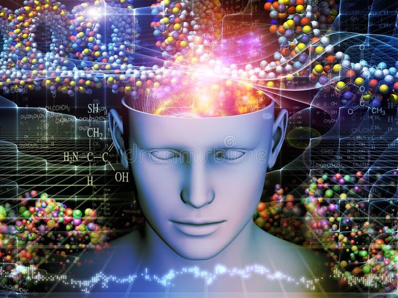头脑的变化 向量例证
