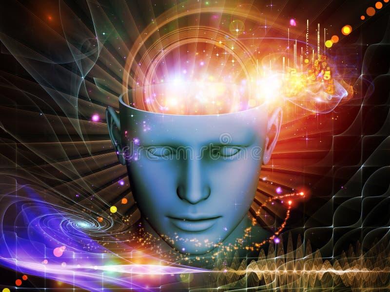 头脑的展开 向量例证