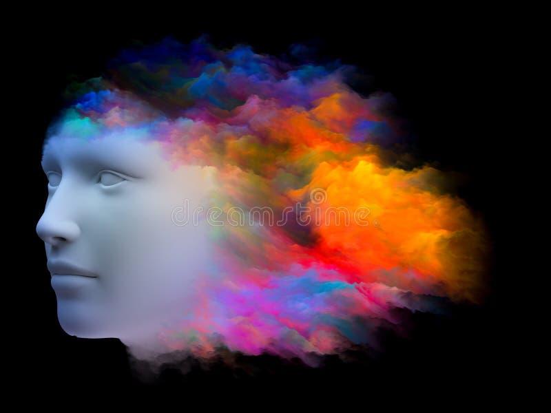 头脑的彩虹 库存例证