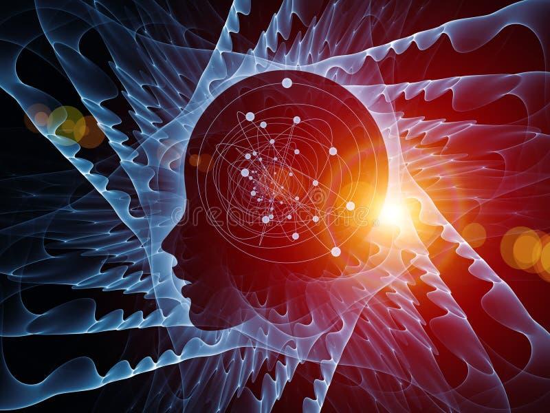 头脑的波浪 向量例证
