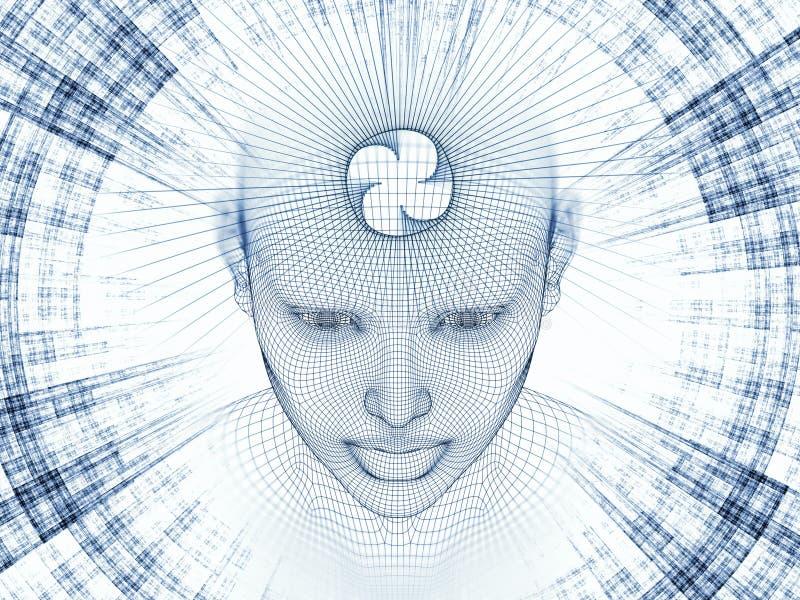 头脑的记忆 库存例证