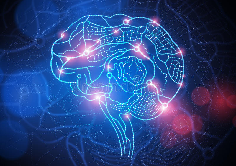 头脑的路线图 库存例证