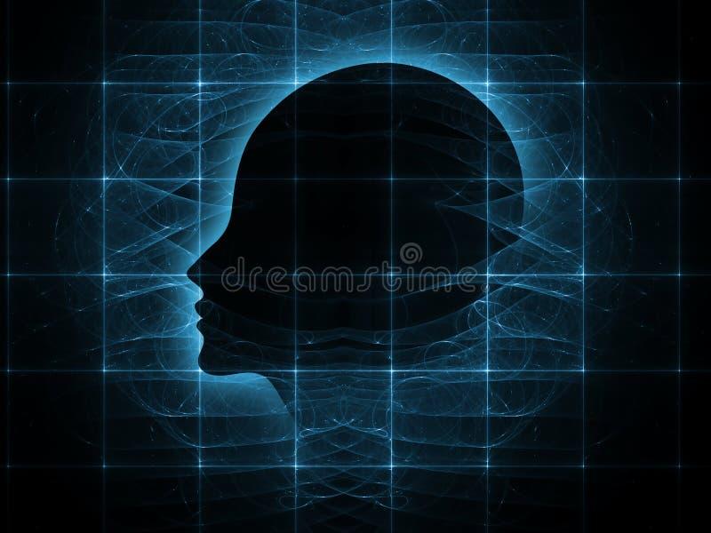 头脑的透视 向量例证