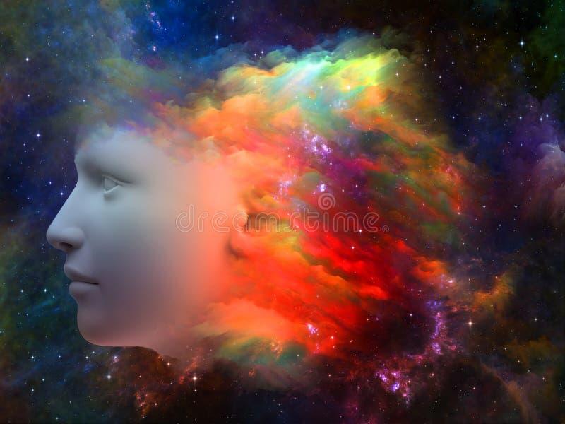 头脑的颜色 向量例证