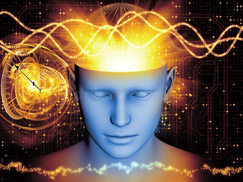 头脑的魔术 向量例证