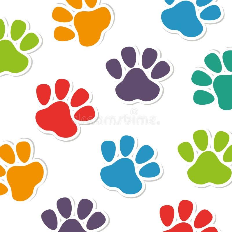 脚印刷品动物样式 库存例证