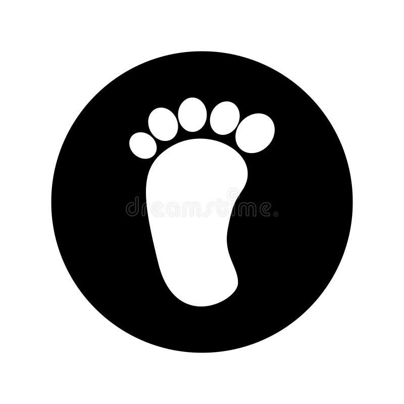 脚印刷品婴孩被隔绝的象 向量例证