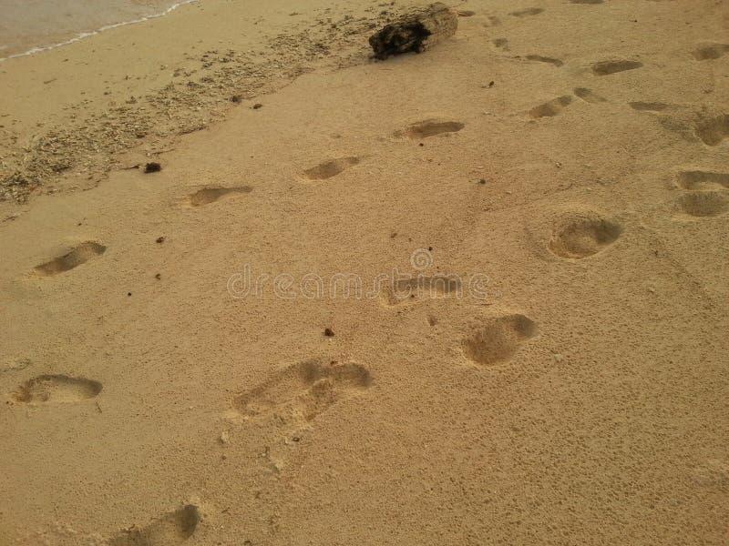 脚印在圣布拉斯巴拿马 免版税图库摄影