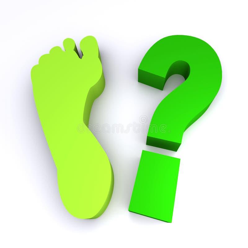 脚印绿色如何您 皇族释放例证