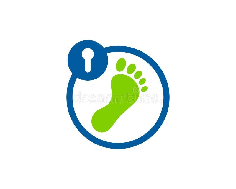 脚安全象商标设计元素 库存例证