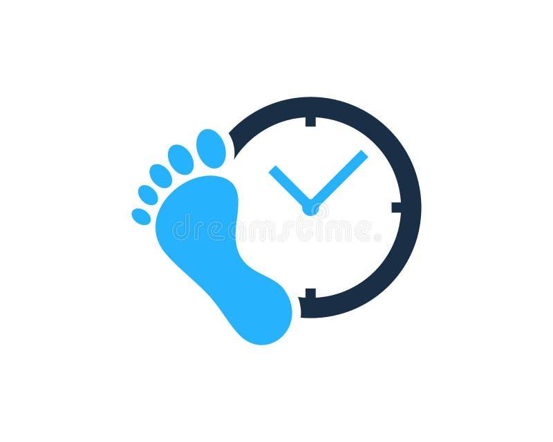 脚时间象商标设计元素 皇族释放例证