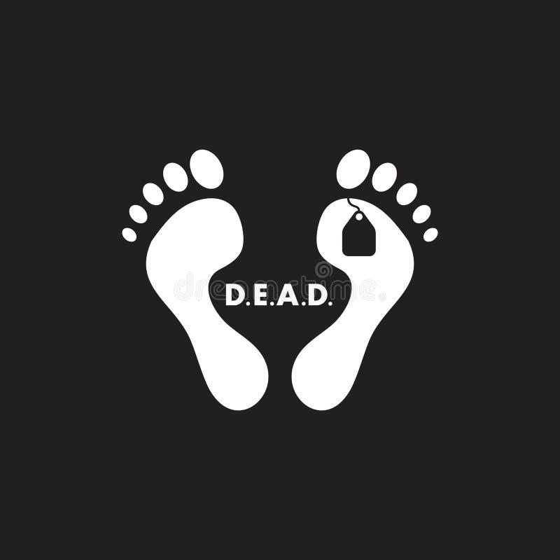 脚标记尸体标志传染媒介 库存例证