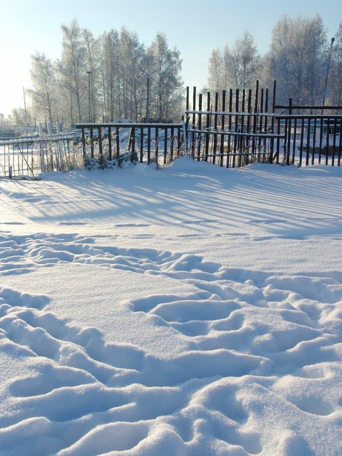 脚步冬天 库存图片