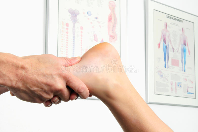脚的物理疗法 库存图片