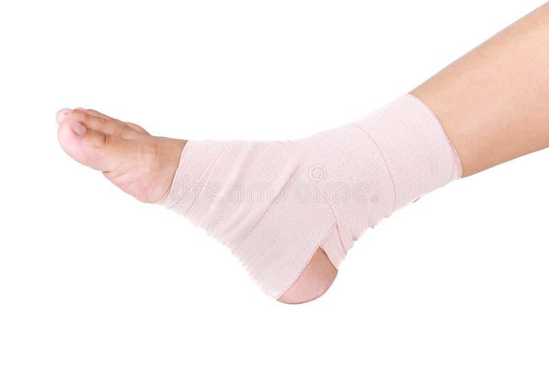 脚腕扭伤 库存图片