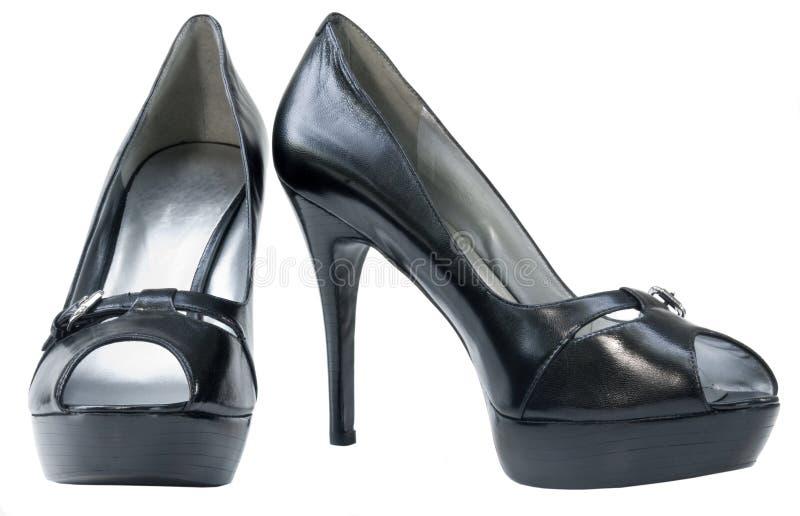 脚跟高平台鞋子 图库摄影