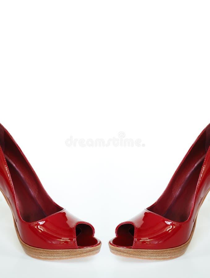脚跟高热红色性感 免版税图库摄影
