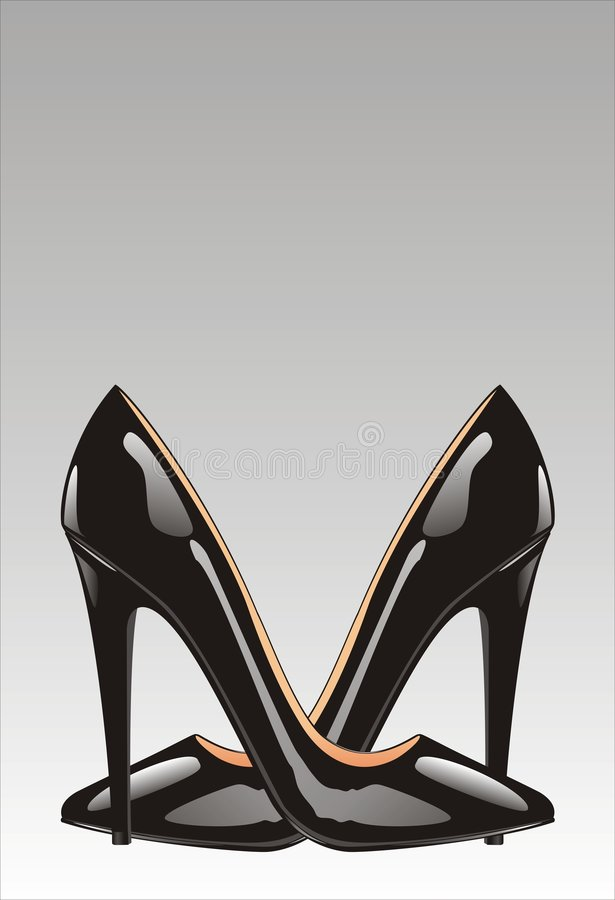 脚跟高鞋子向量 皇族释放例证