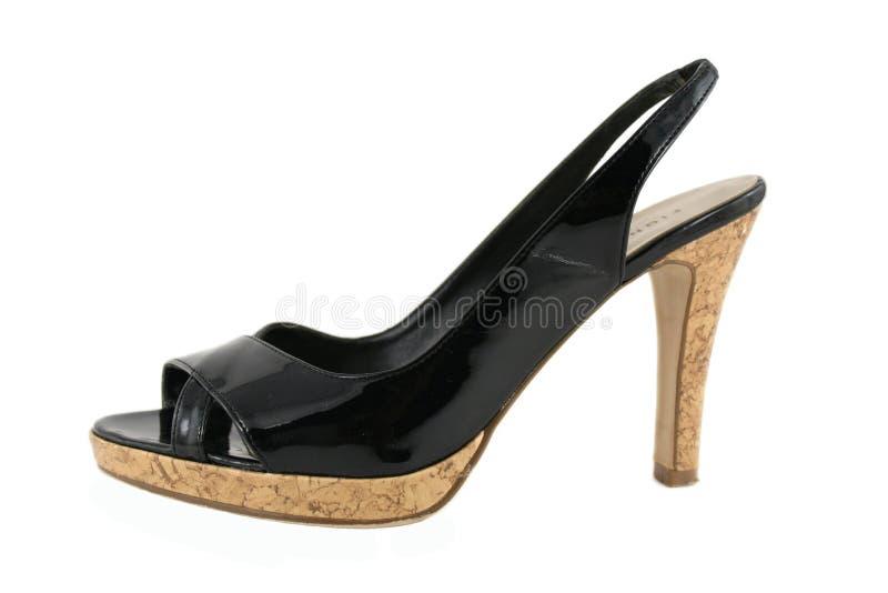 脚跟高鞋子妇女的 免版税库存图片