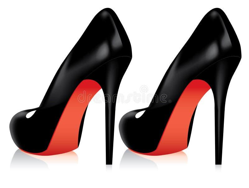 脚跟高鞋子 皇族释放例证