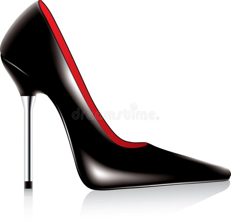 脚跟高鞋子 向量例证