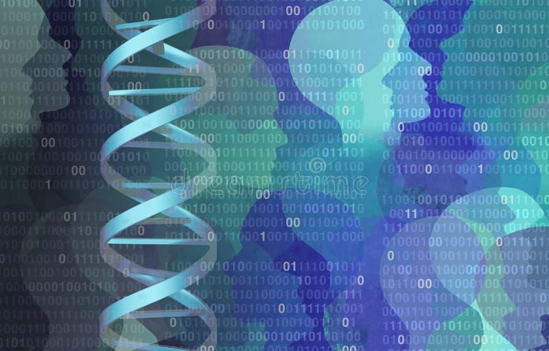 脱氧核糖核酸二进制编码 向量例证