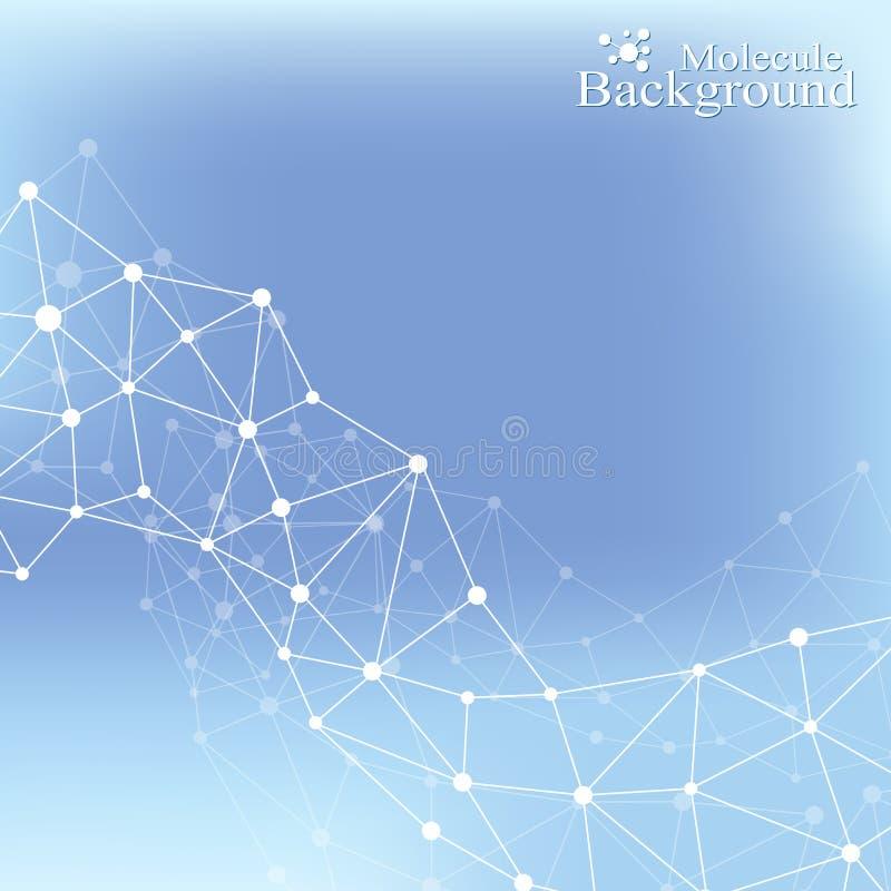 脱氧核糖核酸分子神经元的结构和概念 科学传染媒介背景 医疗科学例证 向量例证