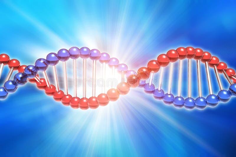 脱氧核糖核酸基因研究科学概念 库存例证