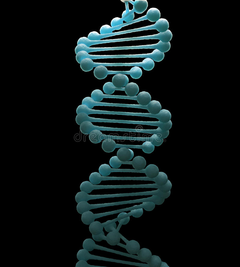 脱氧核糖核酸子线设计 向量例证