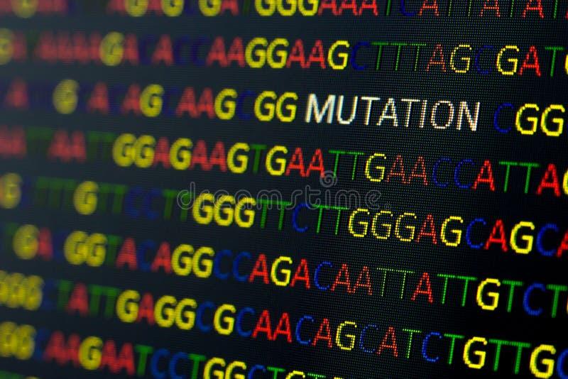 脱氧核糖核酸序列变化 库存图片