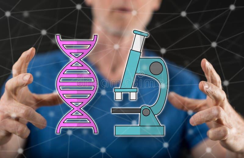 脱氧核糖核酸技术的概念 库存图片