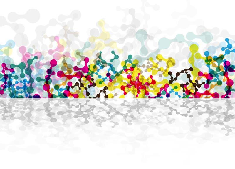 脱氧核糖核酸摘要象和元素汇集 未来派技术 皇族释放例证