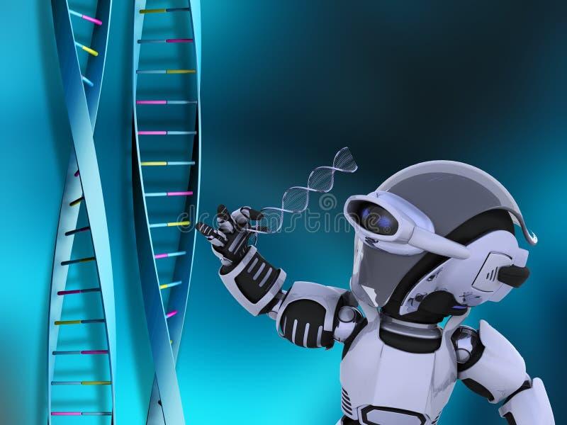 脱氧核糖核酸机器人子线 皇族释放例证
