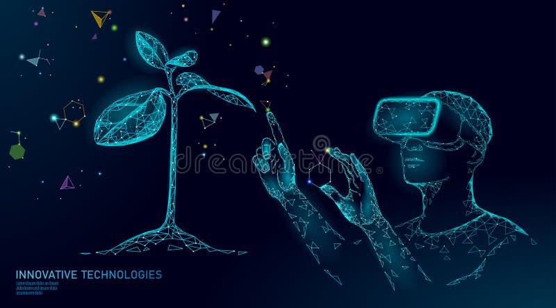 脱氧核糖核酸演变现代工程的技术 被增添的现实盔甲vr玻璃 生态自然基因创新概念 库存例证