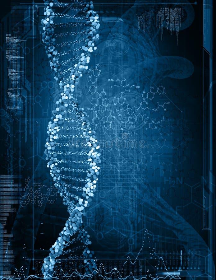脱氧核糖核酸的数字式例证 皇族释放例证