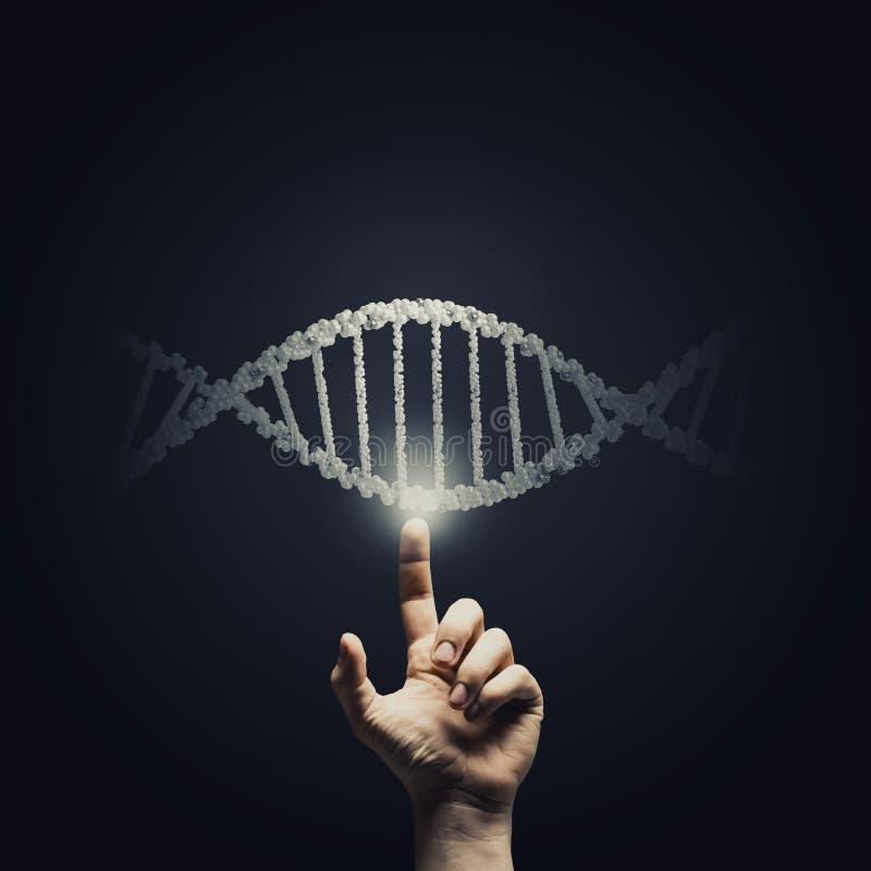 脱氧核糖核酸研究 免版税库存图片