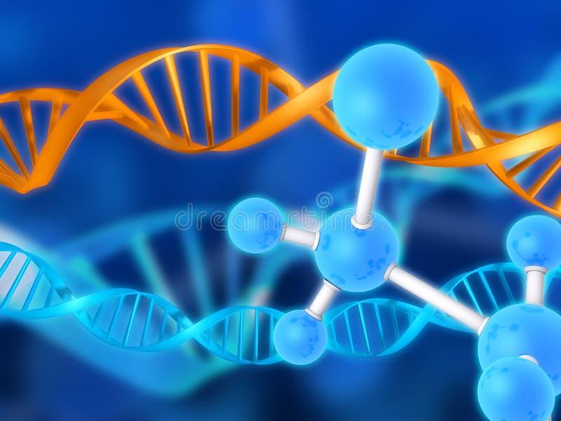 脱氧核糖核酸设计 向量例证