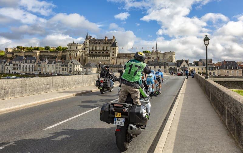 脱离和昂布瓦斯大别墅巴黎游览2017年 库存图片