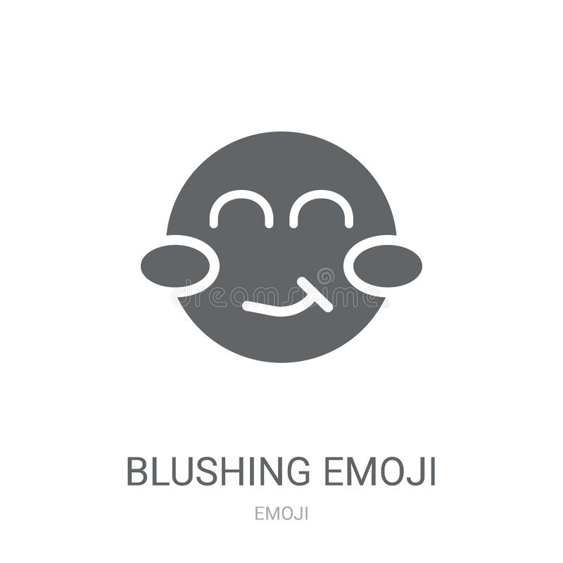 脸红的emoji象  向量例证