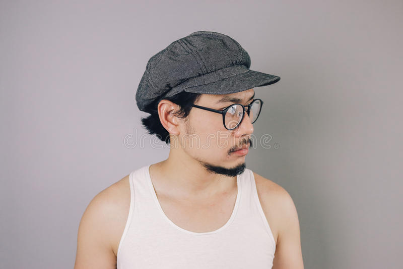 脾气坏的亚裔人 免版税库存图片