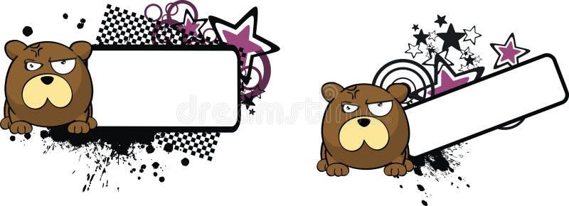 脾气坏的玩具熊动画片拷贝空间表示 皇族释放例证