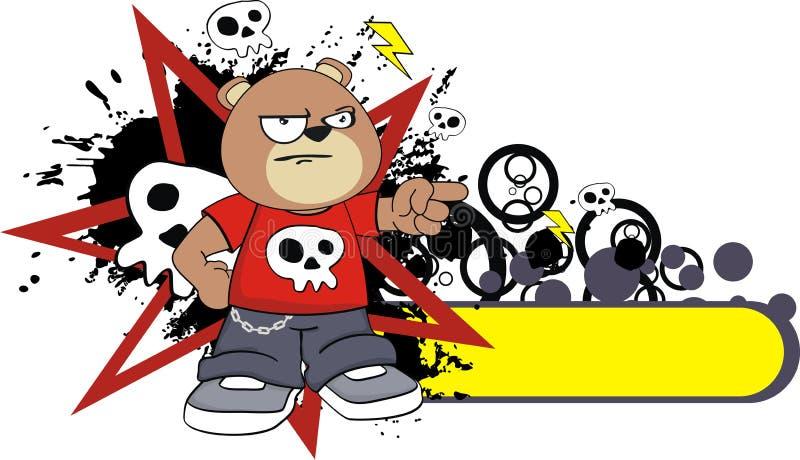 脾气坏的玩具熊动画片贴纸 皇族释放例证