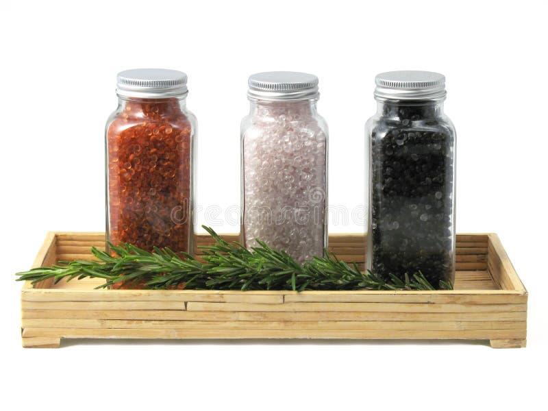 腌制槽用食盐温泉盘 免版税库存图片