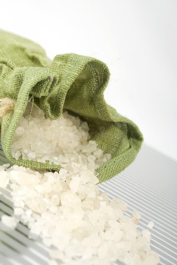 腌制槽用食盐 库存图片