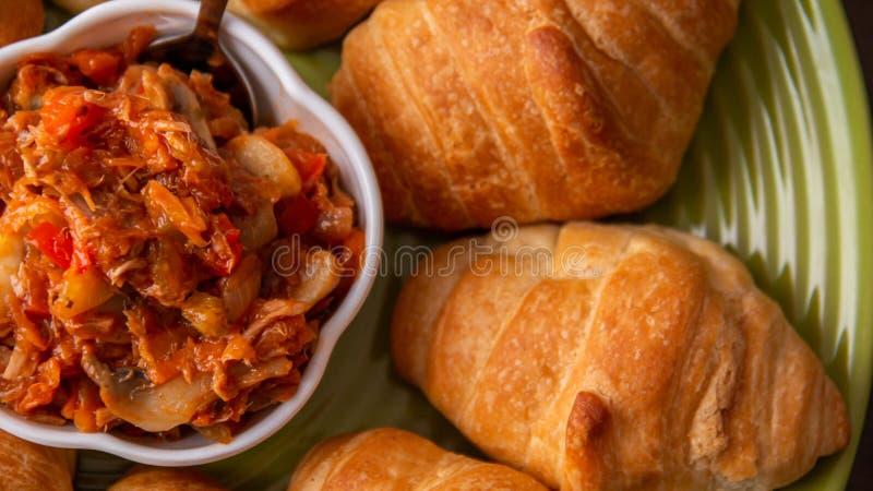腌制用面包 图库摄影