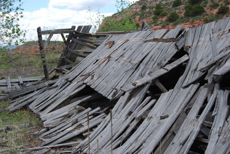 腐朽的谷仓 库存照片