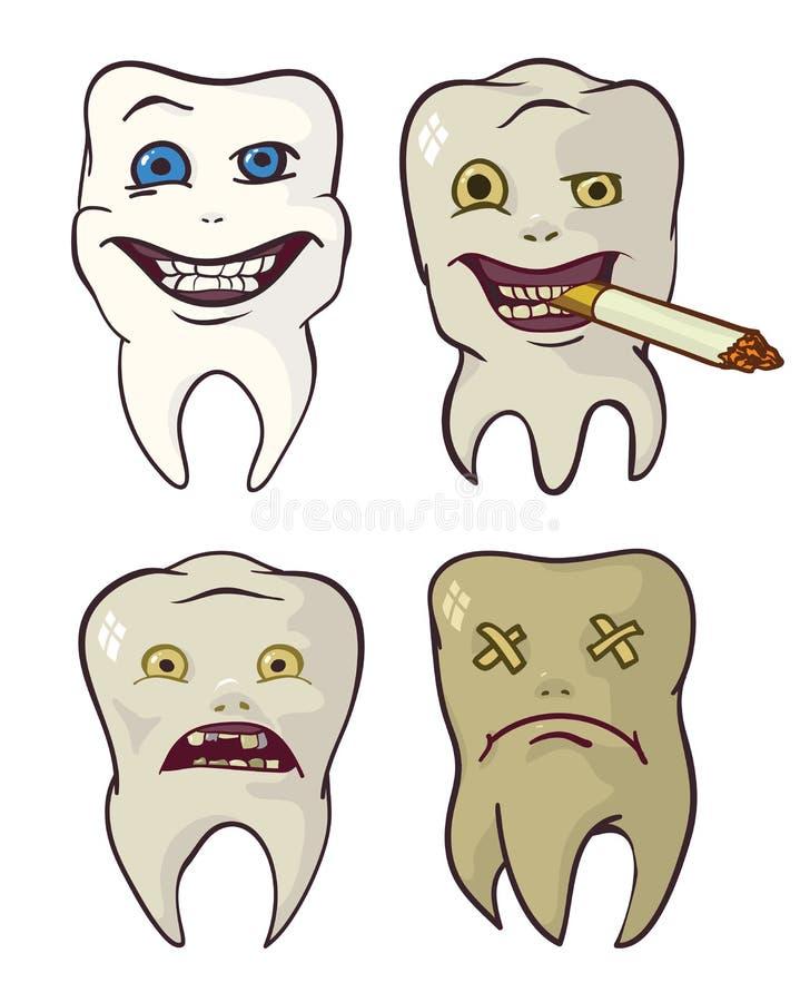 腐烂和严格的牙 库存例证