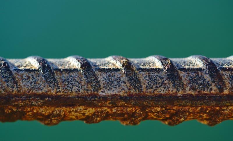 腐蚀性钢棍宏观看法  图库摄影