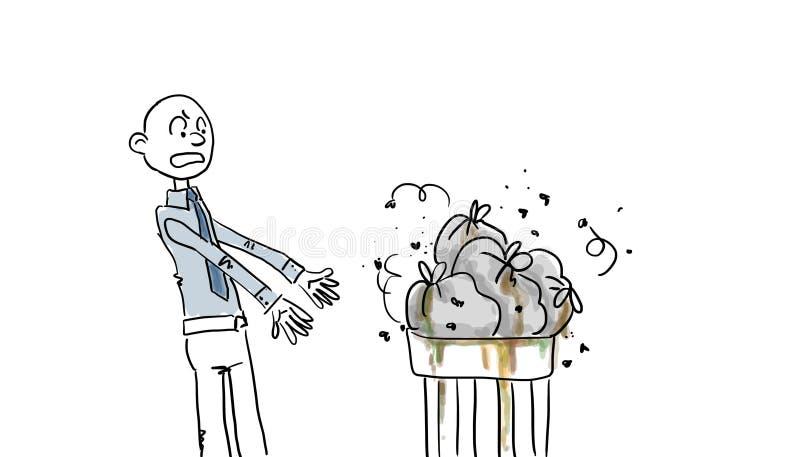 腐败的垃圾袋 向量例证