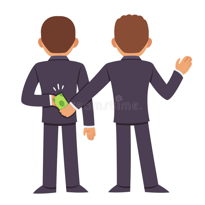 腐败和贿赂 库存例证